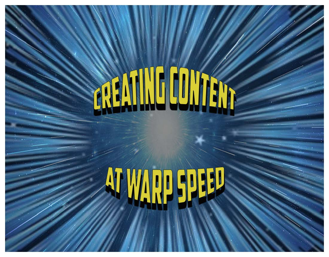 Creating Content Warp Speed website artwork
